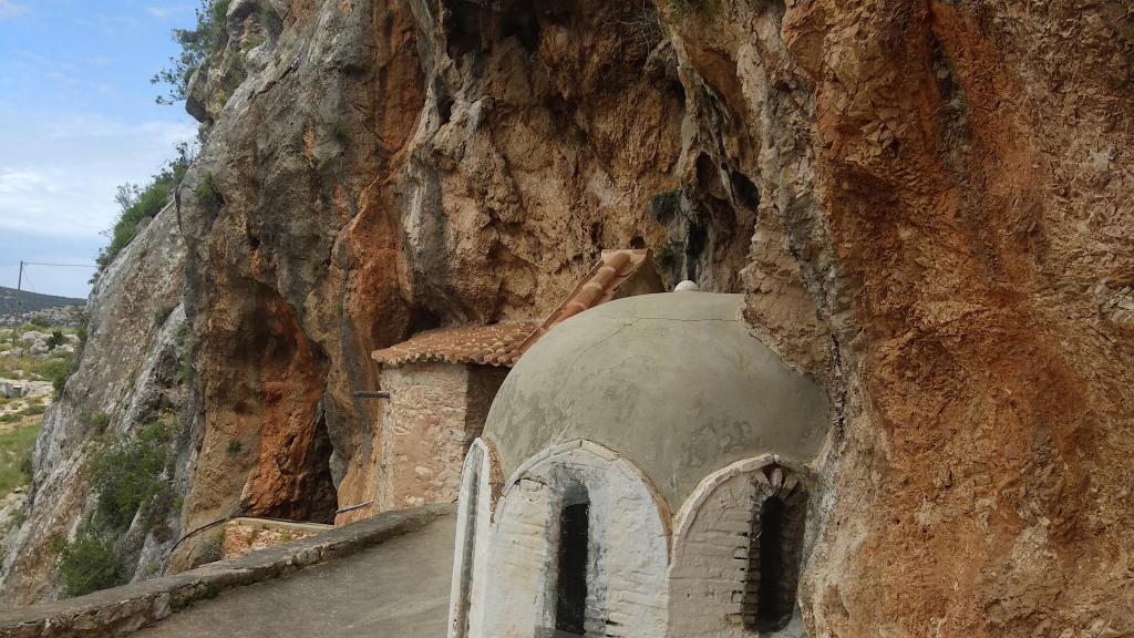 Ο τρούλος του Αγίου Δημητρίου στην Μονή Αυγού