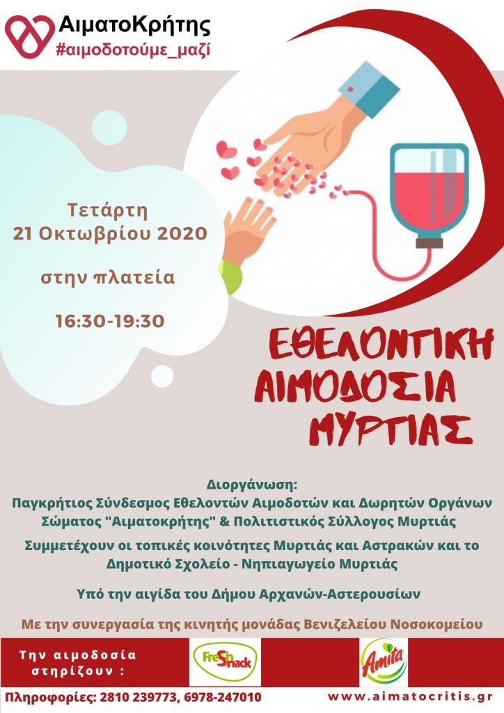 Αιμοδοσία - Αφίσα