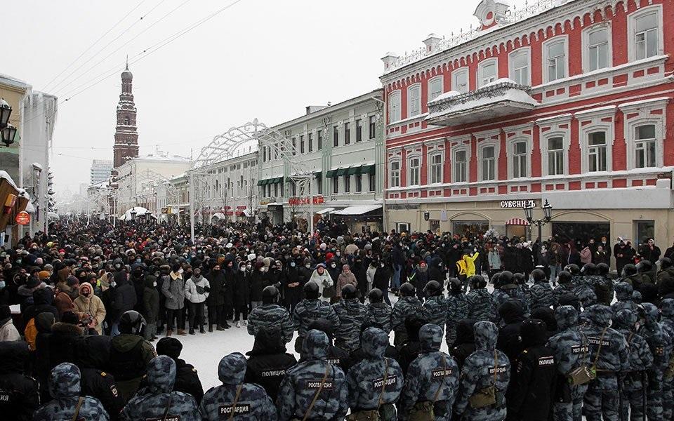 Διαδηλώσεις υπερ του Ναβάλνι σε δεκάδες ρωσικές πόλεις