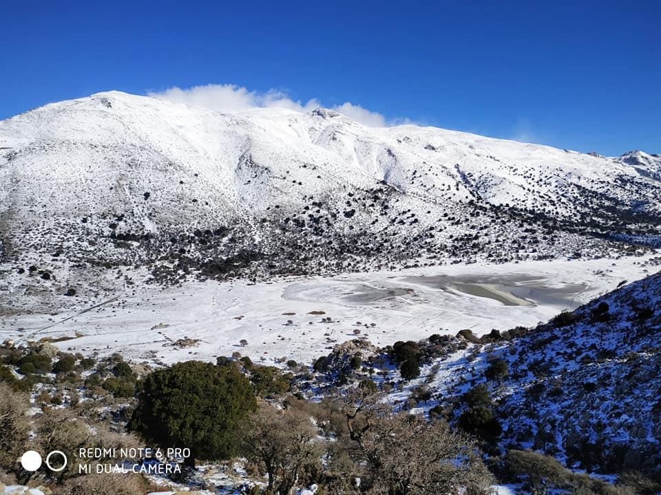 Omalos - śnieg