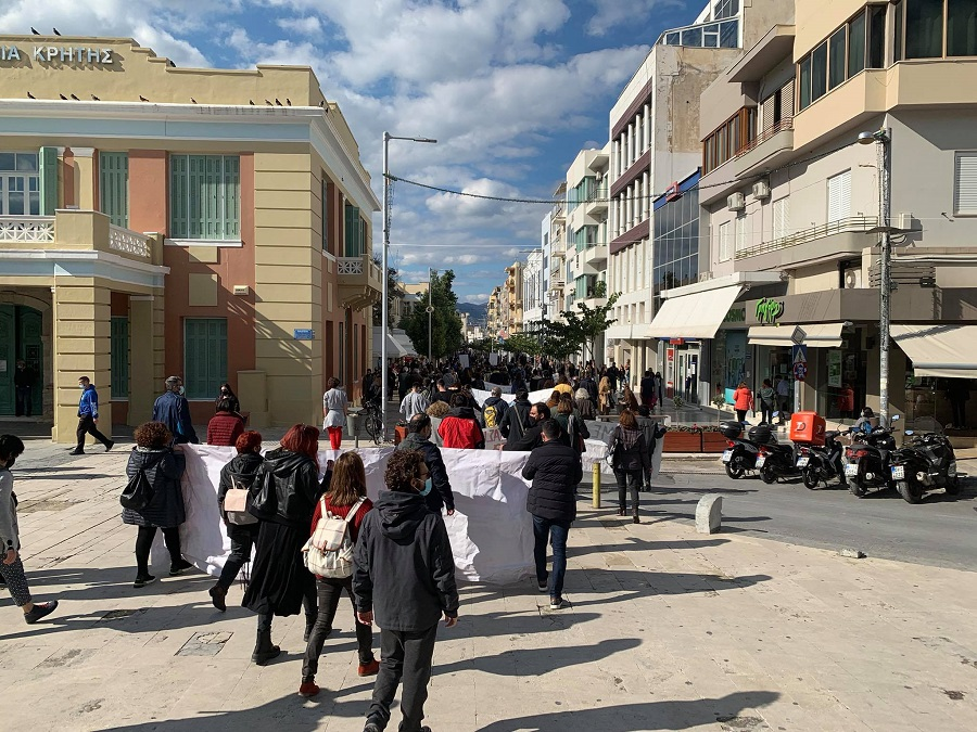 Από την συγκέντρωση των εκπαιδευτικών στην Πλατεία Ελευθερίας