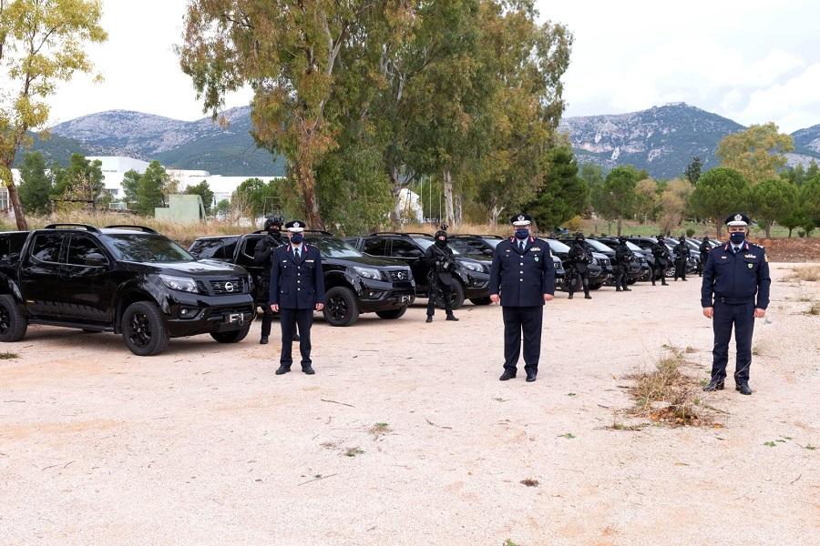Ο Αρχηγός της ΕΛ.ΑΣ επιθεώρησε τα οχήματα