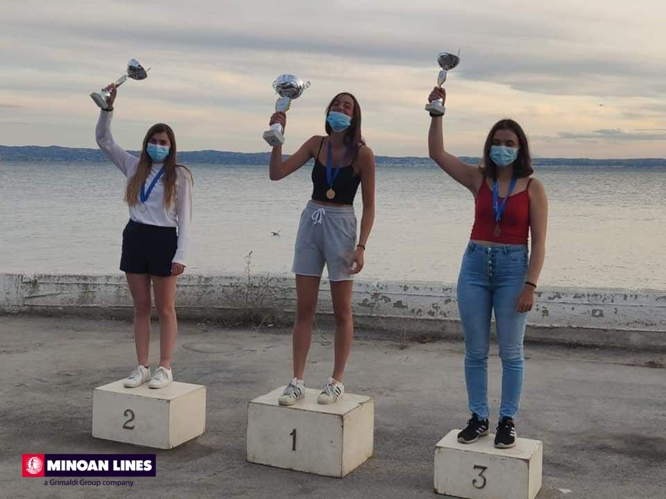 Η Βάσω κατέκτησε την πρώτη θέση στο Πανελλήνιο Πρωτάθλημα Ιστιοπλοΐας κλάσης Laser 4.7 στην κατηγορία των Κορασίδων