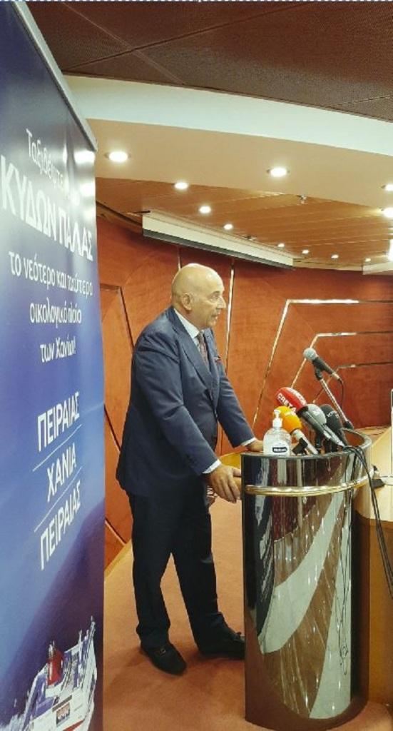 Ο Πρόεδρος του Διοικητικού Συμβουλίου των Μινωικών Γραμμών, Emanuele Grimaldi