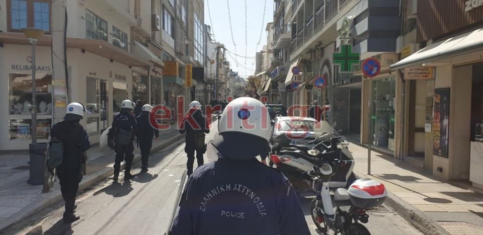 Πορεία για τον Δημήτρη Κουφοντίνα στο Ηράκλειο