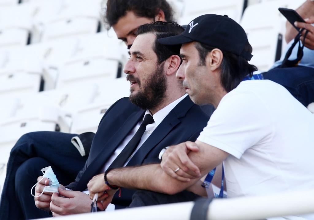 Ο Πουρσανίδης με τον Πρόεδρο της Σουπερ λίγκα1