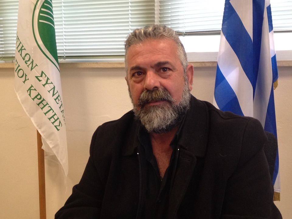 Ο Πρόεδρος της Οργάνωσης Αμπελουργών και Ελαιουργών Κρήτης Πρίαμος Ιερωνυμάκης.
