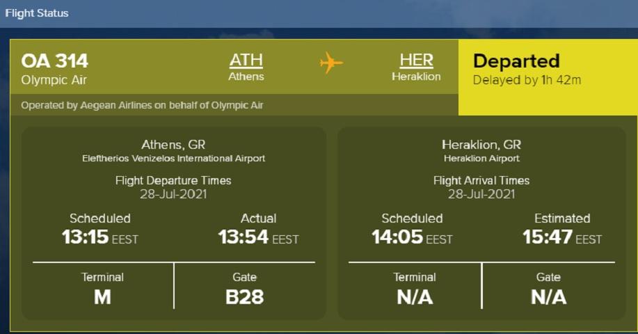 Η πτήση ΟΑ 314