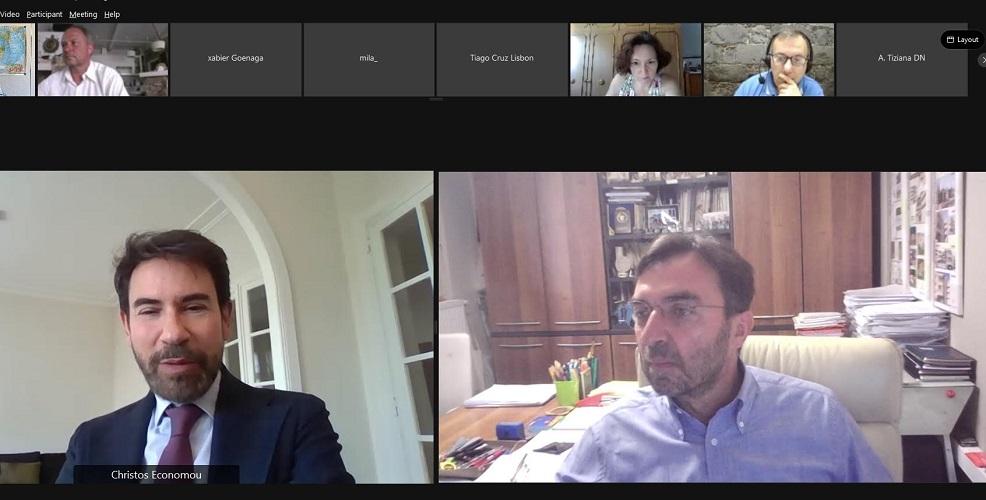στιγμιότυπο από την τηλεδιάσκεψη