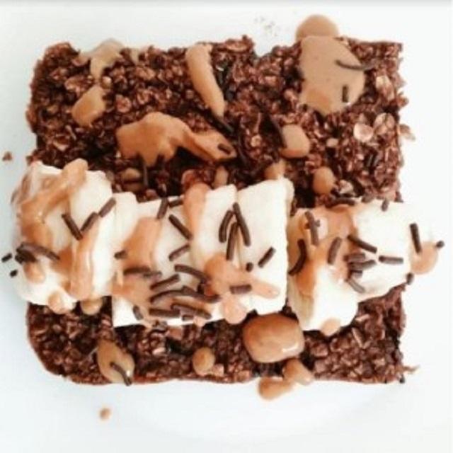 Brownies σοκολάτας με βρώμη