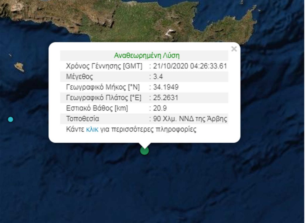 Σεισμός - Άρβη