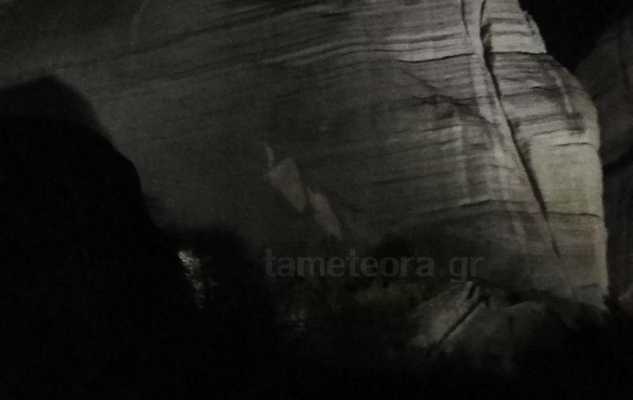 Αποκοπή βράχου στα Μετέωρα