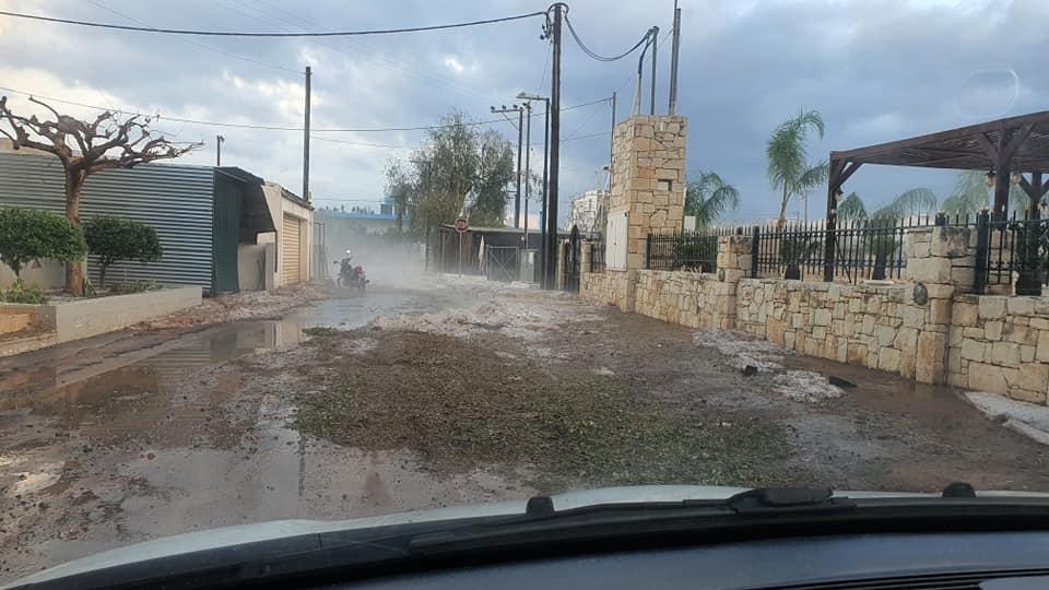 Ο Δήμος Χερσονήσου επλήγη από την κακοκαιρία