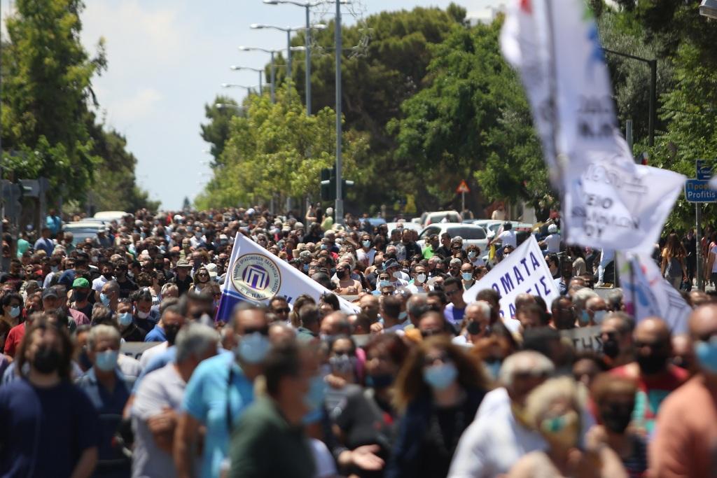 Πορεία εργατικό κέντρο Ηρακλείου