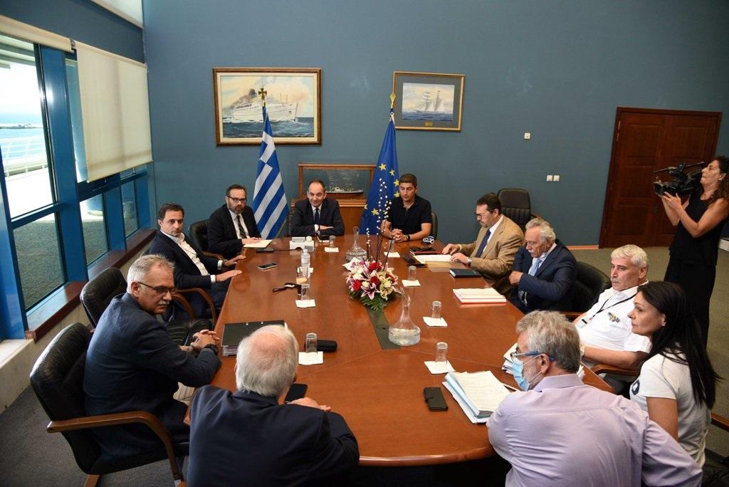 Στιγμιότυπο από τη συνάντηση στην Αθήνα