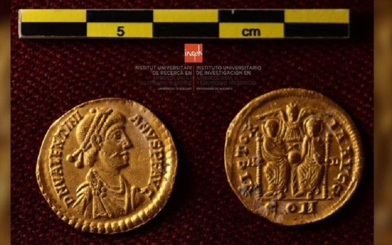 Ρωμαϊκά νομίσματα που βρέθηκαν στο βυθό