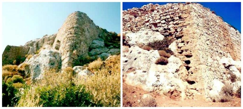 Τα ερείπια από τα δύο ενετικά κάστρα