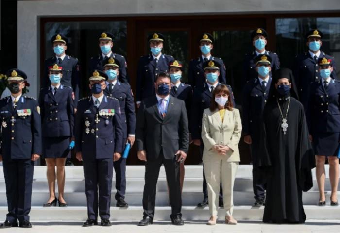 Στην Πυροσβεστική Ακαδημία παρευρέθηκε σήμερα η Πρόεδρος της Δημοκρατίας