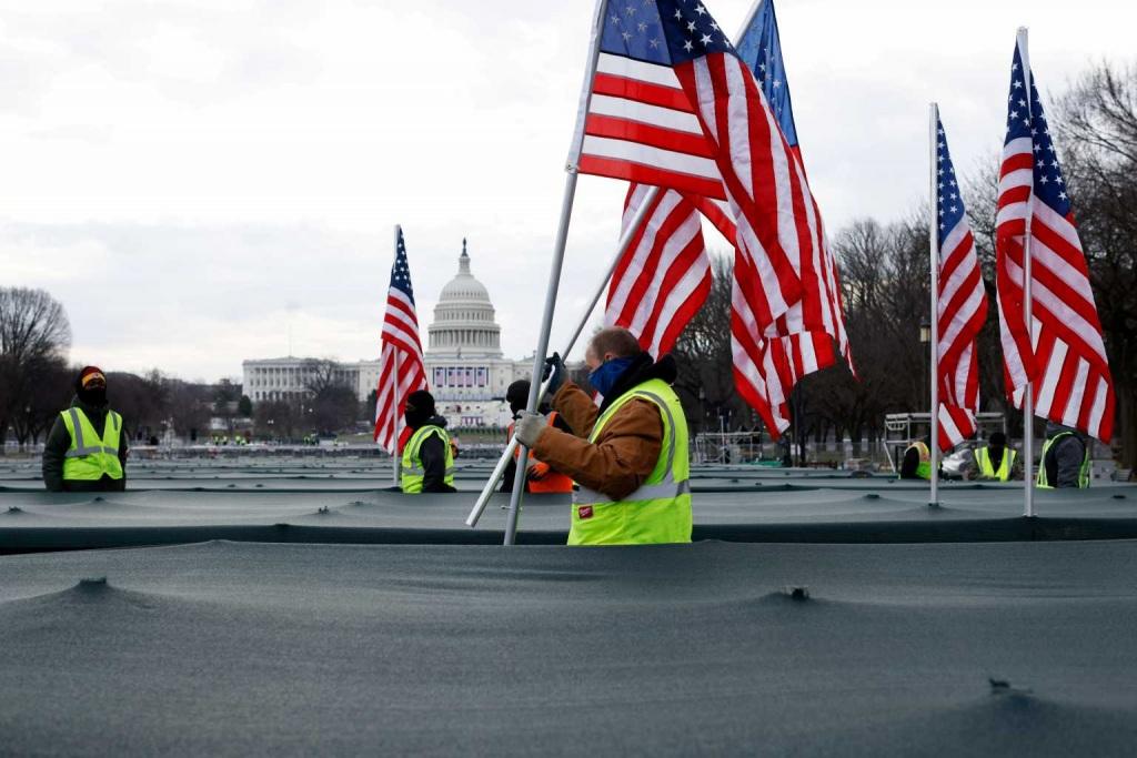 200.000 σημαίες έχουν στηθεί στην Ουάσινγκτον