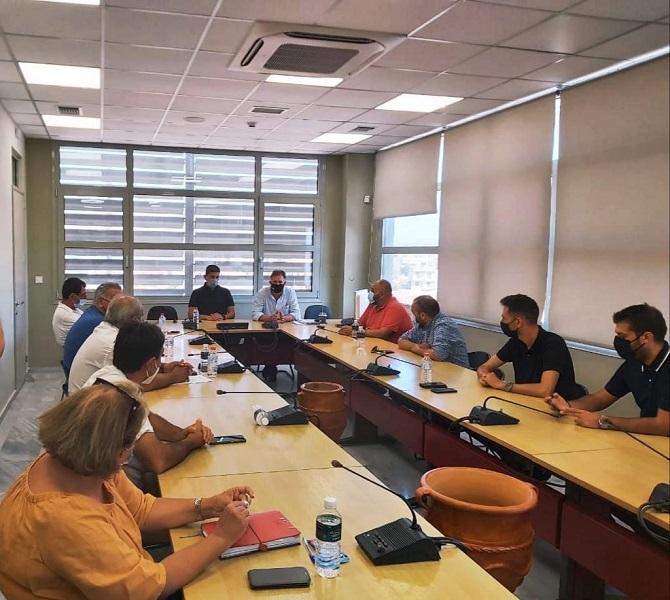 στιγμιότυπο από την σύσκεψη